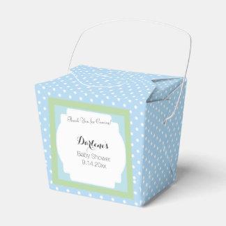 Blue Polka Dots Party Favor Box