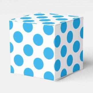 Blue Polka Dots Party Favor Boxes