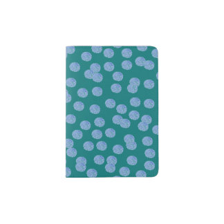 Blue Polka Dots Passport Holder