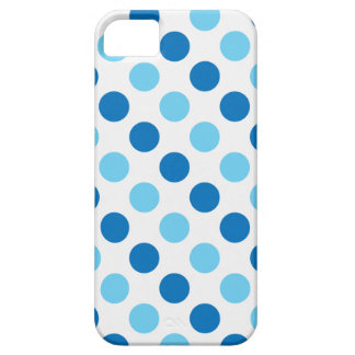 Blue polka dots pattern case for the iPhone 5