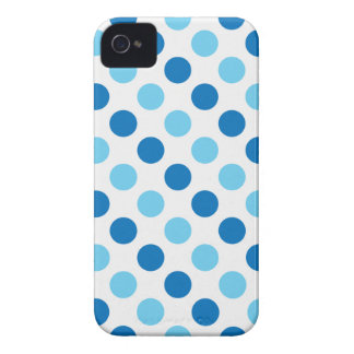 Blue polka dots pattern Case-Mate iPhone 4 cases