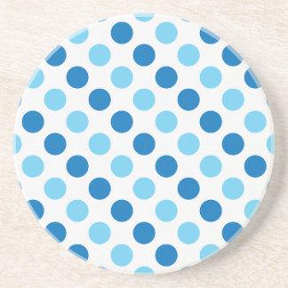 Blue polka dots pattern coaster