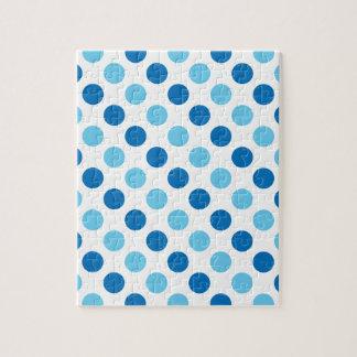 Blue polka dots pattern jigsaw puzzle
