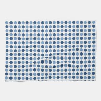 Blue Polka Dots Pattern Kitchen Towel