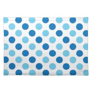 Blue polka dots pattern placemat