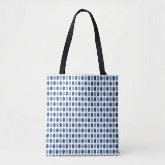 Blue Polka Dots Pattern Tote Bag
