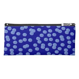 Blue Polka Dots Pencil Case