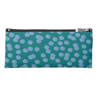 Blue Polka Dots Pencil Case