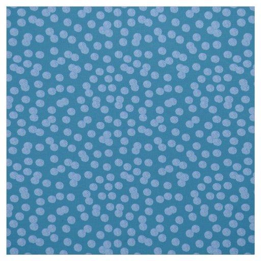 Blue Polka Dots Pima Cotton Fabric
