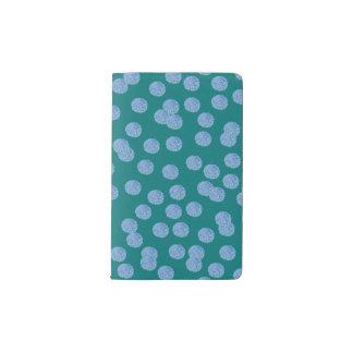 Blue Polka Dots Pocket Notebook