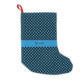 Blue Polka Dots Small Christmas Stocking