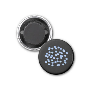 Blue Polka Dots Small Round Magnet