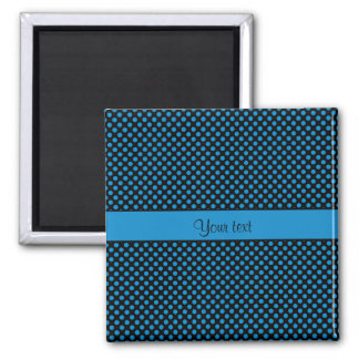 Blue Polka Dots Square Magnet