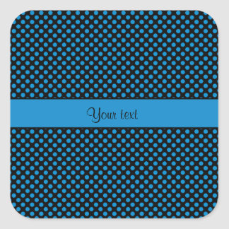 Blue Polka Dots Square Sticker