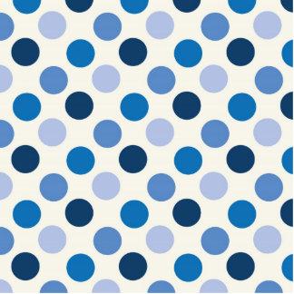 Blue Polka Dots Standing Photo Sculpture
