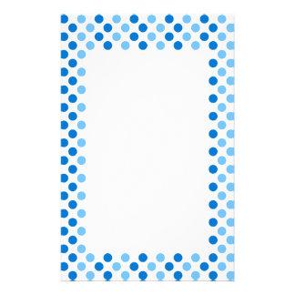 Blue Polka Dots Stationery