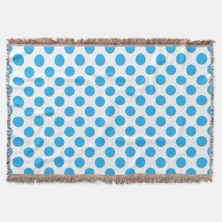 Blue Polka Dots Throw Blanket