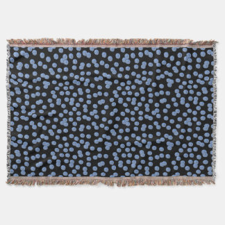 Blue Polka Dots Throw Blanket