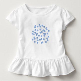Blue Polka Dots Toddler Ruffle T-Shirt