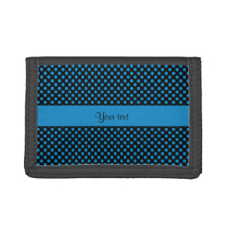 Blue Polka Dots Tri-fold Wallets