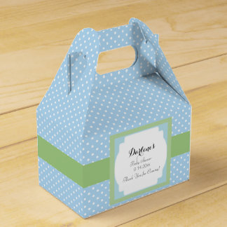 Blue Polka Dots Wedding Favor Boxes