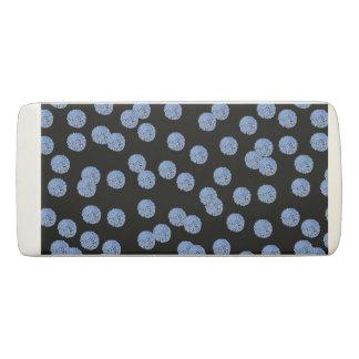 Blue Polka Dots Wedge Eraser