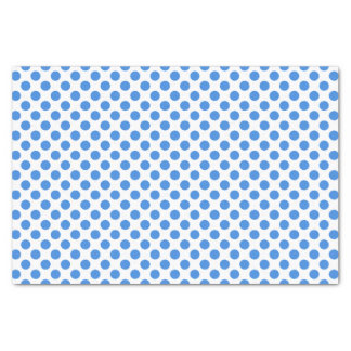 Blue Polka Dots with Customizable Background Tissue Paper