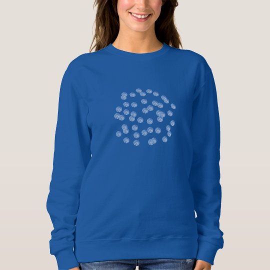 Blue Polka Dots Women's Basic Sweatshirt