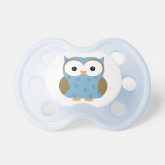 Blue Polka Dotted Owl Pacifier