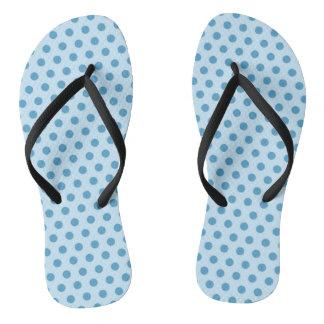 Blue Polkadot Flip Flops