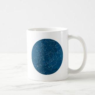 Blue Polygon Night Sky Coffee Mug