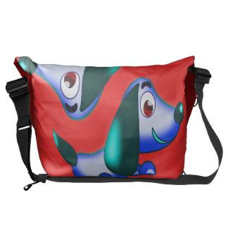 blue pooch courier bag