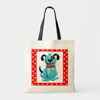Blue Pooch Tote Bag