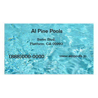 Blue pool business card