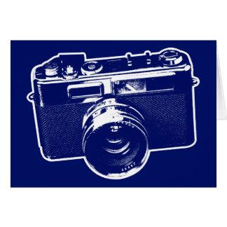 Blue Pop Art Camera Card