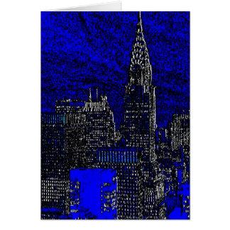 Blue Pop Art New York City Greeting Card