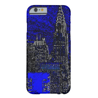 Blue Pop Art New York City iPhone 6 Case Barely There iPhone 6 Case