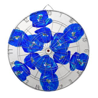 blue poppies dartboard