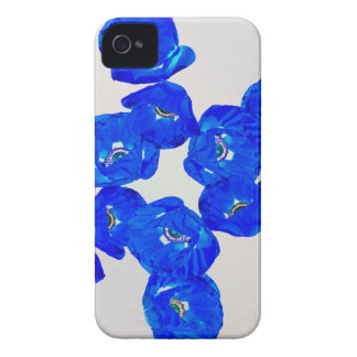 blue poppies iPhone 4 Case-Mate cases