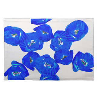 blue poppies placemat