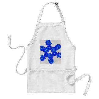 blue poppies standard apron
