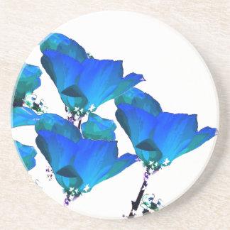 Blue Poppy Art Coaster
