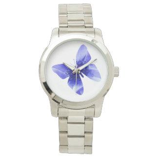 Blue Poppy Butterfly,  Large Unisex Watch