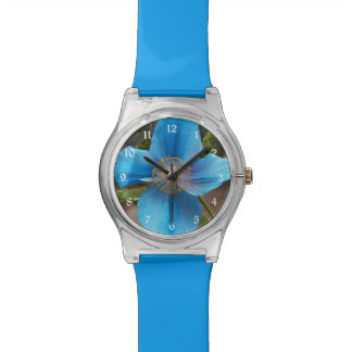 Blue Poppy Floral Watch