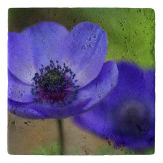 Blue Poppy Flowers Trivet