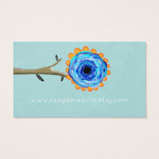 Blue Poppy One Alone Business Card