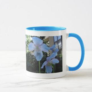Blue Poppy Ringer Mug