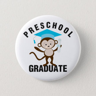 Blue Preschool Graduate 2 Inch Round Button