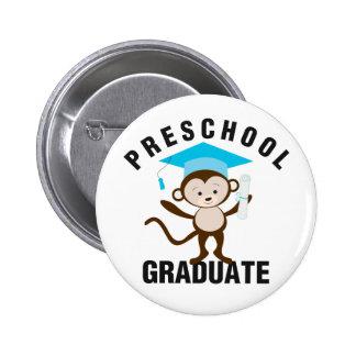 Blue Preschool Graduate 2 Inch Round Button