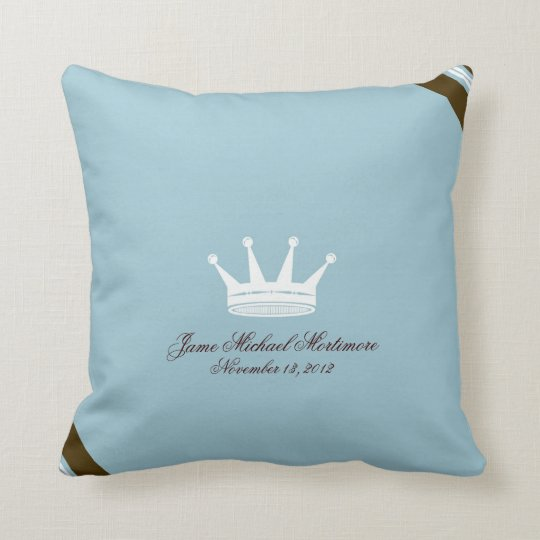 Blue Prince Crown Custom Baby Pillow